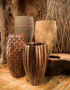 Classic Abaca, Banana, Weave & Elonga Planters In shades of brown :: Phillips Collection House Plants Decor, Plant Decor, Decorating Your Home, Interior Decorating, Vase Design, Cement Pots, Phillips Collection, Wooden Bathroom, Elements Of Design