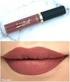 """Tarte Tarteist Quick Dry Lip Paint in """"Obsessed"""": Review and Swatches"""
