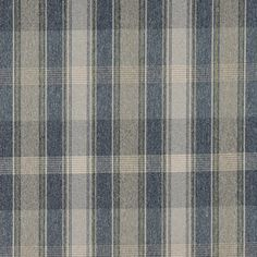 C643 Blue Green and Ivory/ Plaid Country Upholstery by the Yard
