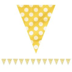 Check out Yellow Dots 12' Flag Banner Decoration - Cheap Decorations from…