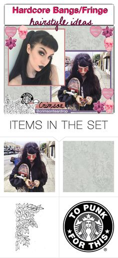 """""""Hardcore Bangs Hairstyles"""" by outcast-tips ❤ liked on Polyvore featuring art, hardcore, tip, hairstyles and ideas"""