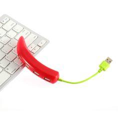 4 Port High Speed USB 2.0 Splitter Adapter Pepper USB HUB Cable For PC