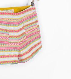 Jacquard bermuda shorts from Zara
