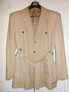 50s Hollywood jacket with belt - label NewTone 7 Star Sportswear