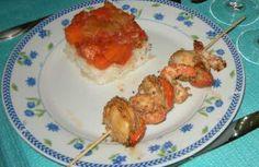 Recette - Brochettes de crevettes et noix de saint-jacques en marinade et aux graines de sésame - Notée 4.5/5 par les internautes
