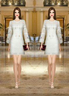 74. Dress - Laundry By Shelli Segal | Clutch - Kamilah Willacy | Sandals - Vince Camuto | Necklace - Isharya | Earrings - Isharya