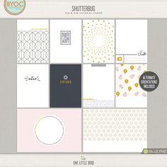 Shutterbug | Printable Journaling Cards | One Little Bird