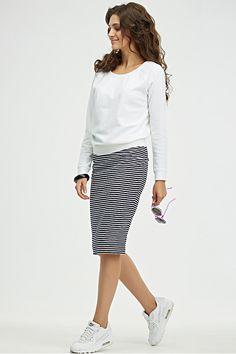 Трикотажная юбка-карандаш Флай-410-02 - интернет-магазин Moda-nsk
