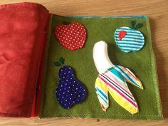 Ella's Quiet Book pg 3  - Velcro Match the Fruit