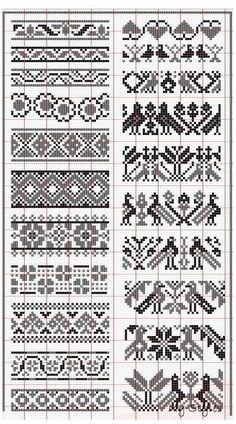 Fair Isle Knitting Patterns, Fair Isle Pattern, Knitting Charts, Loom Patterns, Knitting Stitches, Crochet Patterns, Knitting Designs, Free Knitting, Knitting Ideas
