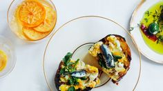 Crostini with Crushed Eggs and Salted Anchovies | Bon Appetit Recipe