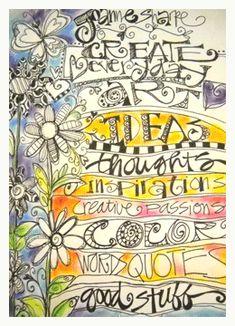 art journal page by joanne sharpe