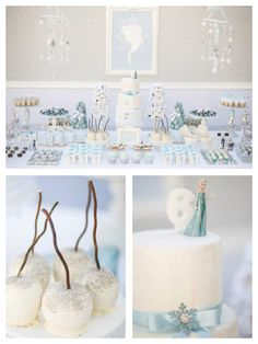 Planning a Frozen party?! See this GORGEOUS Frozen themed birthday party on Kara's Party Ideas!