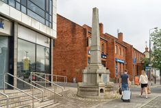 The monument was a stone obelisk with a source of water and a trough to provide drinking water for passing horses. Horse Drawn, Car Crash, Dublin Ireland, Drinking Water, Monuments, Street View, Horses, Urban, Stone
