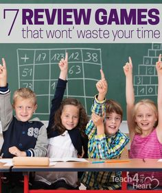 Great review games for teachers to play with their students - and they leave plenty of time for the actual review