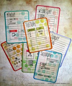 Planner Cards by Andrea for the Simon Says Stamp Monday challenge (Up In The Clouds)