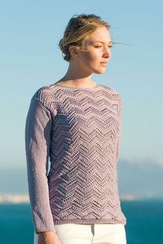 Novita Spring/Summer 2017, Pullover made with Novita Cotton Bamboo yarn #novitaknits #knitting #knits https://www.novitaknits.com/en