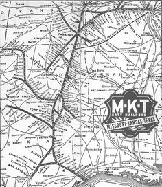 1955 MK&T system map