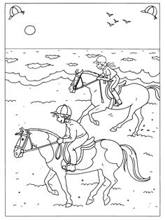 Horses 19 Adult Coloring Pages