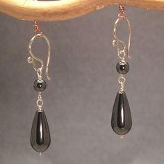 """Original Design Earrings for Under $25: ModGlam Hematite, 1-1/4"""""""