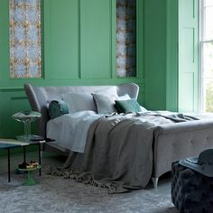 Serene green bedroom | Bedroom decorating ideas | Livingetc | Housetohome.co.uk