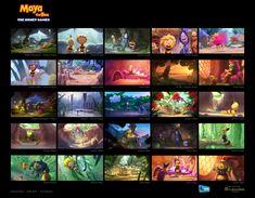 ArtStation - Maya the Bee 2 - Color Script, Simon Kopp Color Script, Pre Production, 2 Colours, Storyboard, Maya, Concept Art, Animation, History, Artwork