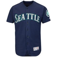 17c98218b Seattle Mariners Majestic Alternate Flex Base Authentic Collection Team  Jersey - Navy
