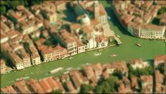 Tilt shift photography - Venice Italy