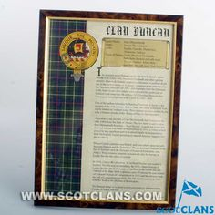 Duncan Clan History