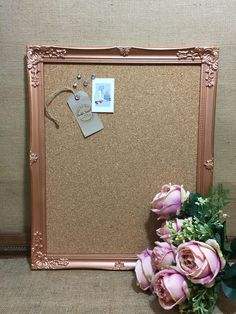 Decorating Your Home in Style Memo Boards, Gold Bedroom, Bedroom Decor, Bedroom Ideas, Gold Office, Copper Office, Copper Frame, Rose Gold, Shabby Chic Homes
