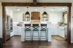 Fixer Upper Season 4   Chip and Joanna Gaines   Episode 04   The Big Country House   Kitchen   Statement Lighting