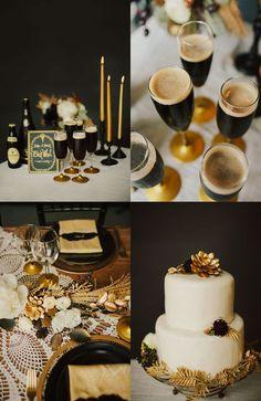 Un mariage noir et doré