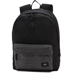 Vans Old Skool Plus Backpack (744.315 IDR) ❤ liked on Polyvore featuring men's fashion, men's bags, men's backpacks, bags and black