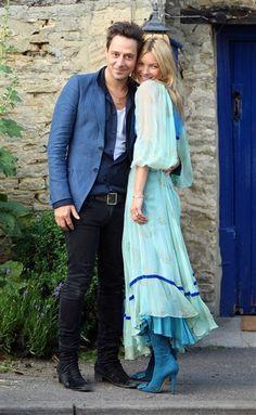 Kate Moss boho style maxi dress