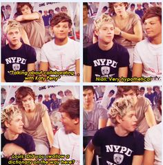 haha niall looks like he's about to eat louis after he says that! :D