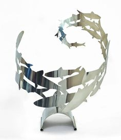 Shoaling Fish Sculpture by Richard Vasey Yacht Sculptures, the perfect gift for Explore more unique gifts in our curated marketplace. Fish Sculpture, Steel Sculpture, Sculpture Ideas, Garden Sculpture, Fish Home, Metal Fish, Candy Art, Shops, Mosaic Diy