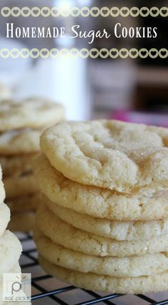 Soft Easy Sugar Cookies are great to share in school lunches or to have a special baked goodie!