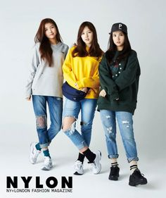Sowon & Yerin & Eunha (G-Friend) - Nylon Magazine February Issue Kpop Girl Groups, Kpop Girls, K Pop, Korean People, G Friend, Dress Picture, Girl Bands, Me As A Girlfriend, London Fashion