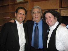 Juan Diego with Plácido Domingo & Gustavo Dudamel