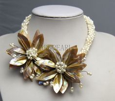 beadwork necklacebib necklacestatement by Arkpearl on Etsy, $35.00