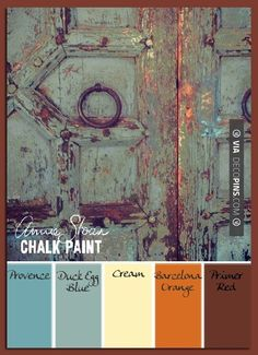 So neat! - Paint Color Palettes Here are techniques for producing a vintage layered look with chalk paint. | Check out more ideas for Paint Color Palettes at DECOPINS.COM | #paintcolorpalettes #paint #color #colorpalettes #palettes #bedrooms #bathroom #bathrooms #homedecor #beds #interiordesign #home #homedecoration #design