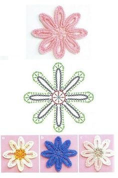Elizabeth Christianini uploaded this image to 'Croche/FLORES CROCHET'. See the album on Photobucket. Elizabeth Christianini uploaded this image to 'Croche/FLORES CROCHET'. See the album on Photobucket. Freeform Crochet, Crochet Diagram, Crochet Art, Irish Crochet Patterns, Crochet Designs, Crochet Leaves, Crochet Flowers, Crochet Accessories, Flower Chart