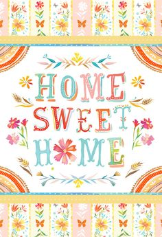 "8X10 ""Home Sweet Home Print"" by Katie Daisy at ""The Wheatfield"" $18"