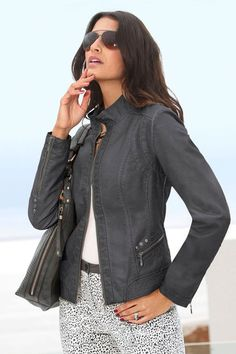 A classic fit and glossy leather-look makes this jacket the perfect week-to-weekend style. Capture European Leather-Look Jacket Online | Shop EziBuy
