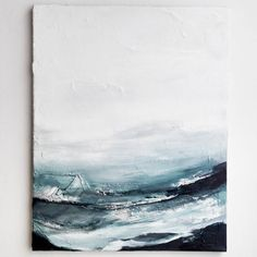 "730 Likes, 17 Comments - Marianna Raikkala (@artbymarianna) on Instagram: ""'Don't tell the Sea' / 50 x 34cm Acrylic paint on canvas. 2017 #painting #abstract #art #artwork…"""