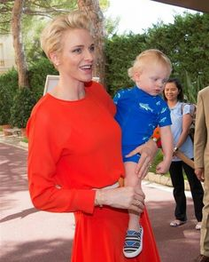 Prince Albert and Princess Charlene of Monaco attended a meeting with the South African Red Cross Society (SARCS) delegation at Monaco Palace on July 22, 2016 in Monaco. At the meeting, were Prince Jacques and Princess Gabriella of Monaco. (in addition to the previous page: Here)
