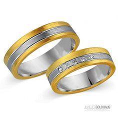 Trauringe Eheringe Gold Gelb/Weiss - CERA3011