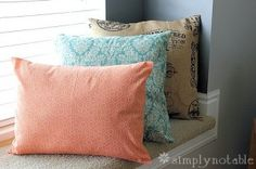 Five Minute DIY Decorative Pillow Tutorial