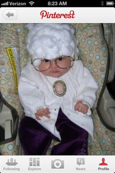 Dressing your baby up like an old granny....yep I see that as a reason to have a baby!!! Hahahahaha love it!