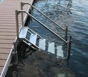 how to build outdoor stairs to a boat dock